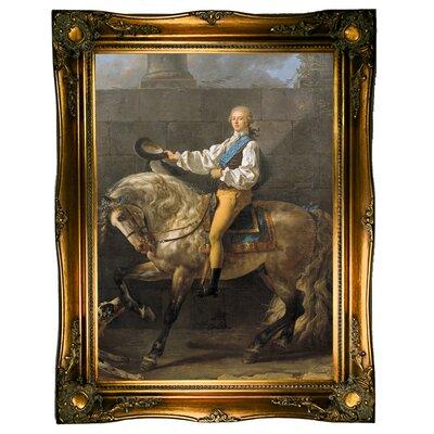 'Equestrian portrait of Stanislaw Kostka Potocki 1781' Framed Graphic Art Print on Canvas