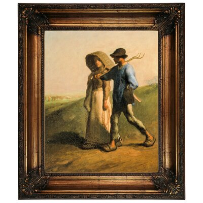 'Going to Work 1851' Framed Graphic Art Print on Canvas Size: 26.25