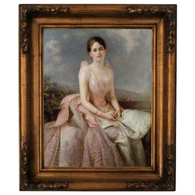 'Portrait of Juliette Gordon Low 1887' Framed Graphic Art Print on Canvas Size: 19.5
