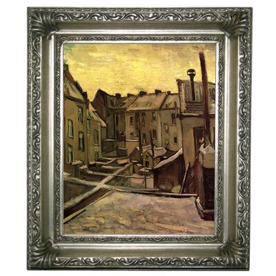 'Backyards of Old Houses in Antwerp in the Snow' by Vincent van Gogh Graphic Art Print on Canvas Size: 13