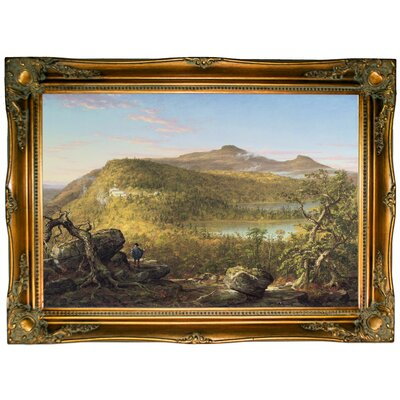'A View of the Two Lakes and Mountain House Catskill Mountains Morning 1844' Framed Graphic Art Print on Canvas Size: 24.5