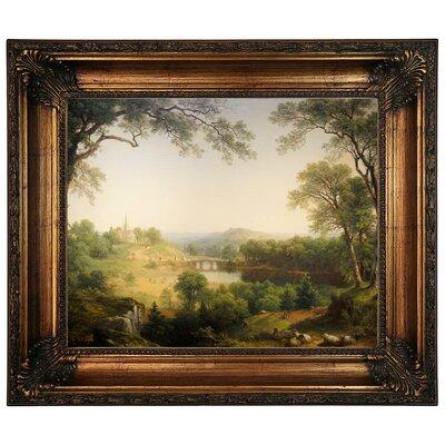 'Sunday Morning 1860' Graphic Art Print on Canvas Size: 22.25