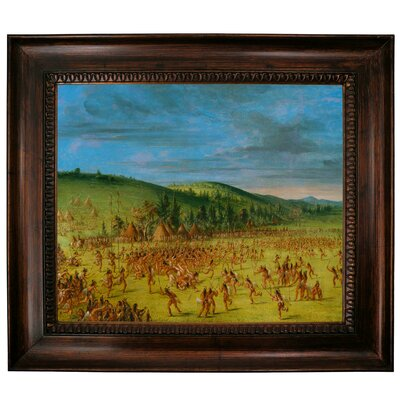 'Ball Play of the Choctaw Ball Up 1846' Framed Graphic Art Print on Canvas Size: 27