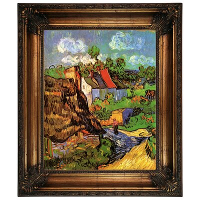 'Houses in Auvers' by Vincent van Gogh Graphic Art Print on Canvas Size: 26.25