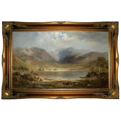 'Loch Long 1867' Framed Graphic Art Print on Canvas Format: Ornate Gold Frame