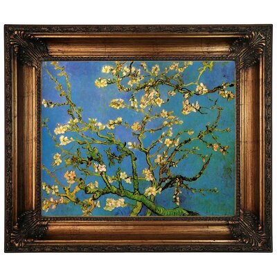 'Blossoming Almond Tree' by Vincent Van Gogh Framed Graphic Art Print on Canvas Size: 22.25