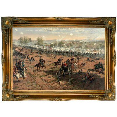 'Hancock at Gettysburg - Battle of Gettysburg' Framed Graphic Art Print on Canvas