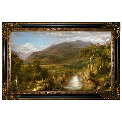 'The Heart of the Andes 1859' Framed Graphic Art Print on Canvas Size: 24.25