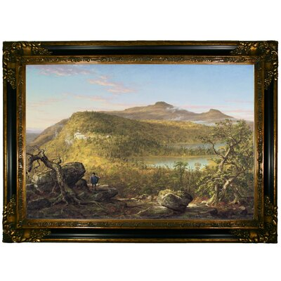 'A View of the Two Lakes and Mountain House Catskill Mountains Morning 1844' Framed Graphic Art Print on Canvas Size: 24.25