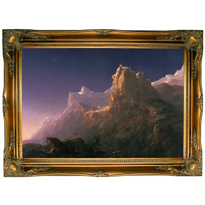 'Prometheus Bound 1847' Framed Graphic Art Print on Canvas Size: 24.5