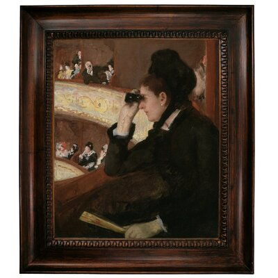 'In the Loge 1878' by Mary Cassatt Framed Graphic Art Print on Canvas Size: 31