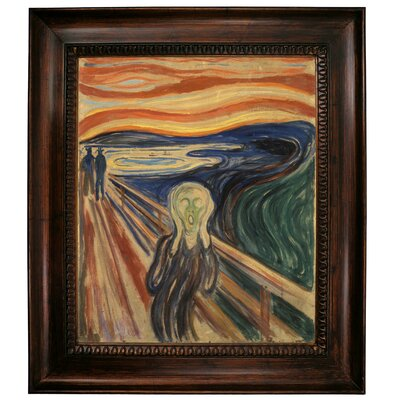 'The Scream 1910' by Edvard Munch Framed Graphic Art Print on Canvas Size: 31