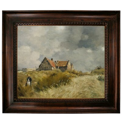 'Cottage in the Dunes' Framed Graphic Art Print on Canvas Size: 27