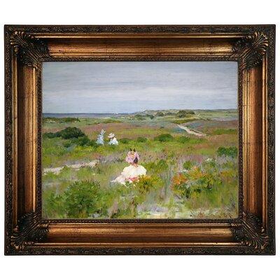 'Landscape Shinnecock Long Island 1896' Framed Graphic Art Print on Canvas Format: Antique Gold Frame, Size: 22.25