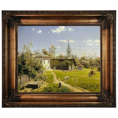 'Moscow patio 1878' Framed Graphic Art Print on Canvas Size: 22.25