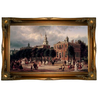 'Independence Hall in Philadelphia' Framed Graphic Art Print on Canvas Size: 24.5