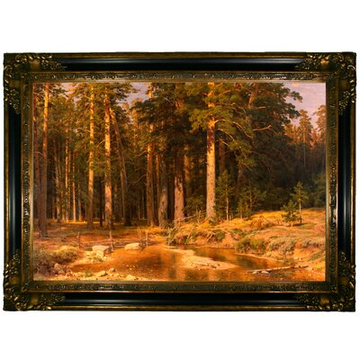 'Mast Tree grove 1887' Framed Graphic Art Print on Canvas Format: Gold/Black Frame
