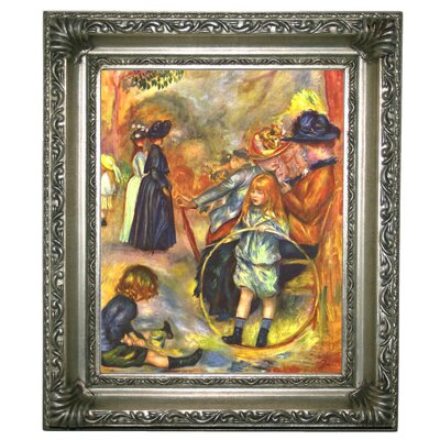 'In the Jardin du Luxembourg' by Pierre-Auguste Renoir Framed Graphic Art Print on Canvas Size: 13