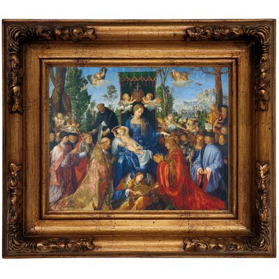 'Feast of Rose Garlands 1506' Framed Graphic Art Print on Canvas Size: 12.5