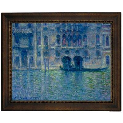 'Palazzo da Mula Venice' by Claude Monet Framed Graphic Art Print on Canvas Size: 13.75
