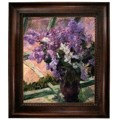 'Lilacs in a Window 1880' by Mary Cassatt Framed Graphic Art Print on Canvas Size: 31