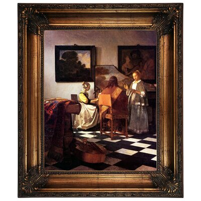 'The Concert Stolen' by Johannes Vermeer Framed Graphic Art Print on Canvas Size: 26.25