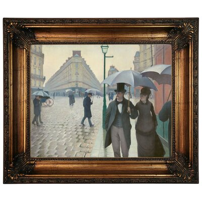 'Paris Street in Rainy Weather 1877' Framed Graphic Art Print on Canvas Size: 22.25