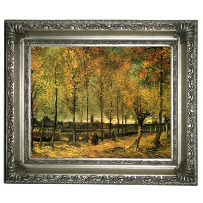 'Lane with Poplars' by Vincent van Gogh Graphic Art Print on Canvas Size: 11