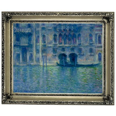 'Palazzo da Mula Venice' by Claude Monet Framed Graphic Art Print on Canvas Size: 14