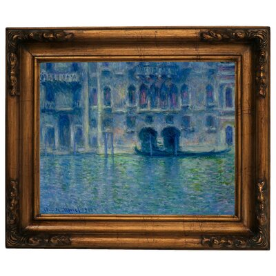'Palazzo da Mula Venice' by Claude Monet Framed Graphic Art Print on Canvas Size: 15.5