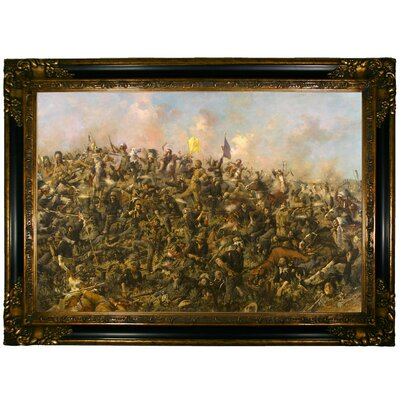 'Custer's Last Stand 1899' Framed Graphic Art Print on Canvas Size: 24.25