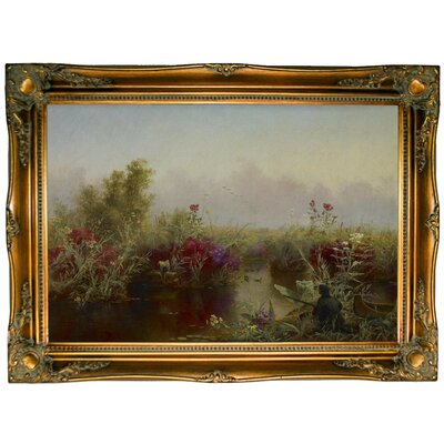 'Duck Hunting 1867' Framed Graphic Art Print on Canvas Size: 24.5