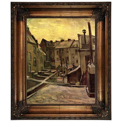 'Backyards of Old Houses in Antwerp in the Snow' by Vincent van Gogh Graphic Art Print on Canvas Size: 26.25