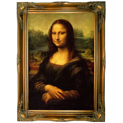 'Mona Lisa' by Leonardo da Vinci Framed Graphic Art Print on Canvas