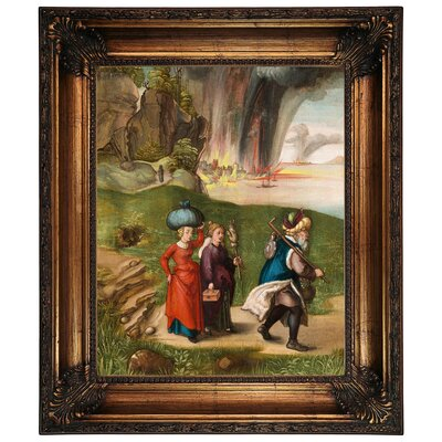 'Lot and His Daughters 1496' Framed Graphic Art Print on Canvas Size: 26.25