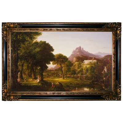 'Dream of Arcadia 1838' Framed Graphic Art Print on Canvas Size: 24.25