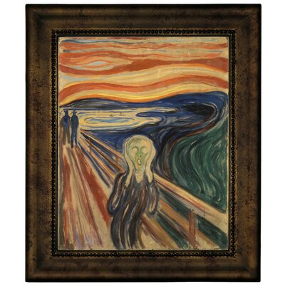 'The Scream 1910' by Edvard Munch Framed Graphic Art Print on Canvas Size: 12.75