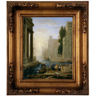 'Embarkation of St Paula' Framed Graphic Art Print on Canvas Size: 14.5