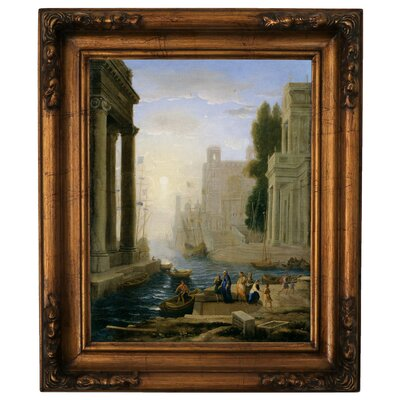 'Embarkation of St Paula' Framed Graphic Art Print on Canvas Size: 19.5