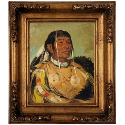 'Sha-co-pay, The Six, Chief of the Plains Ojibwa 1832' Framed Graphic Art Print on Canvas Size: 14.5