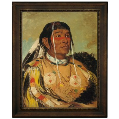 'Sha-co-pay, The Six, Chief of the Plains Ojibwa 1832' Framed Graphic Art Print on Canvas Size: 19.5