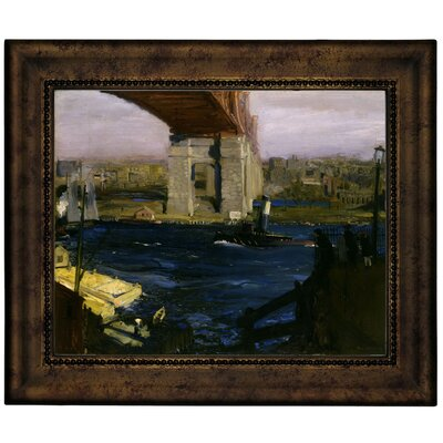 'The Bridge, Blackwells Island 1909' Framed Graphic Art Print on Canvas Size: 10.75
