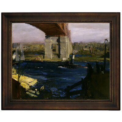 'The Bridge, Blackwells Island 1909' Framed Graphic Art Print on Canvas Size: 13.75