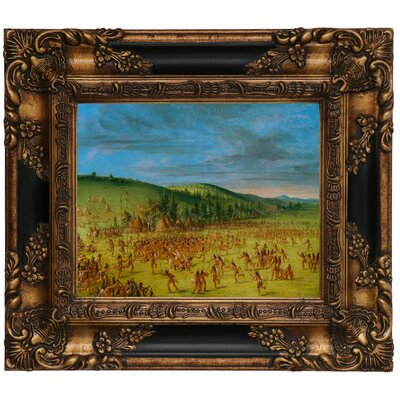 'Ball Play of the Choctaw Ball Up 1846' Framed Graphic Art Print on Canvas Size: 13.25