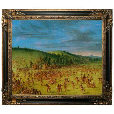 'Ball Play of the Choctaw Ball Up 1846' Framed Graphic Art Print on Canvas Size: 25.25