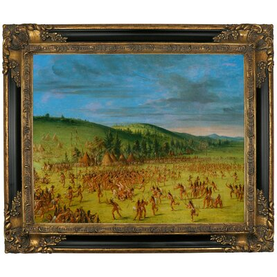 'Ball Play of the Choctaw Ball Up 1846' Framed Graphic Art Print on Canvas Size: 21.25
