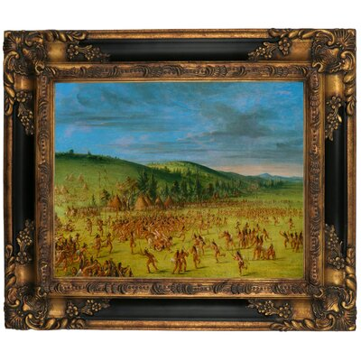 'Ball Play of the Choctaw Ball Up 1846' Framed Graphic Art Print on Canvas Size: 16.25