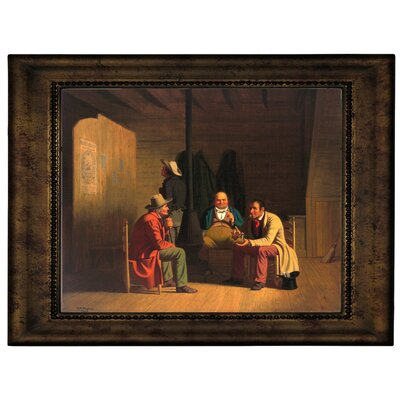 'Country Politician 1849' Framed Graphic Art Print on Canvas Size: 10.75