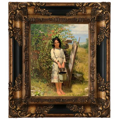 'Blackberry Picking 1875' Framed Graphic Art Print on Canvas Size: 15.25