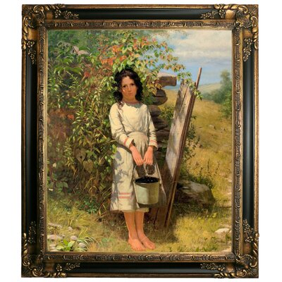 'Blackberry Picking 1875' Framed Graphic Art Print on Canvas Size: 29.25